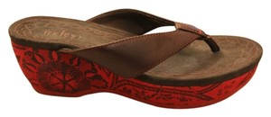 Other Brown, red Wedges