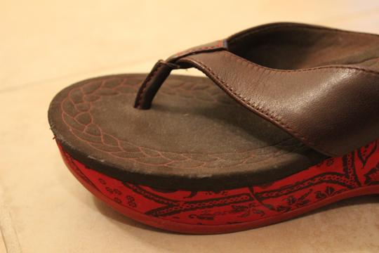 Other Leather Brown, red Wedges