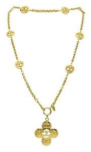 Chanel Chanel Vintage Gold Pendant Necklace
