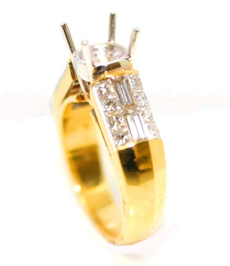 Yellow Gold Semi Mount Engagement Rings