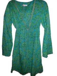 Victoria's Secret Teal Bohemian Swim Cover up by Victoria's Secret