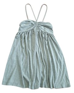Lux short dress Gray Polyester Rayon Braided on Tradesy