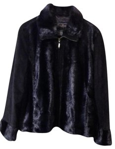 Terry Lewis Classic Luxuries Leather Faux Fur Fur Coat