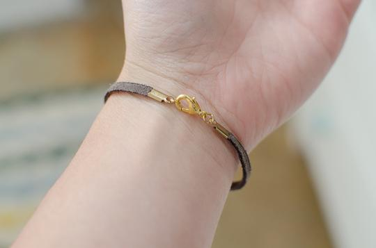 Anthropologie Anthropologie Leather Jeweled Bracelet