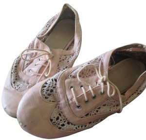 Wanted Crochet Bohemian Flat Golf Pink Flats