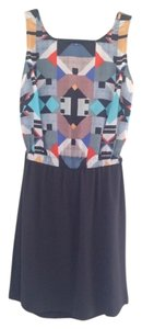 Twelfth St. by Cynthia Vincent Geometric Patterned Silk Dress