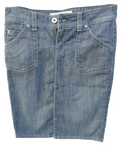 Hudson Jeans Mini Skirt Blue Denim