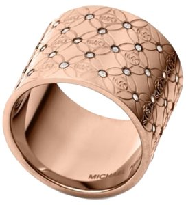 Michael Kors NWT Michael Kors Rose Gold Open Barrel Ring 7