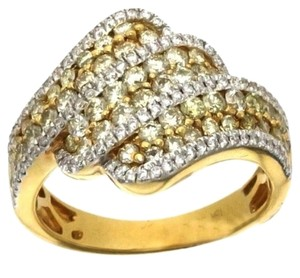 BRAND NEW, Ladies 18k Gold Yellow Diamond Cocktail Ring