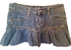 Angels Jeans Mini Sexy Mini Skirt Blue