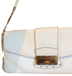 Dolce&Gabbana White And Gold Clutch