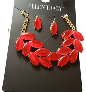 Ellen Tracy Ellen Tracy paints the town red necklace and earrings