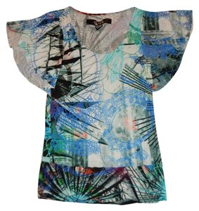 Desigual Top Multi Color with Blue