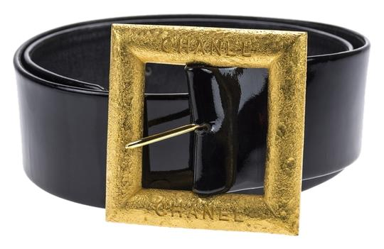 Chanel Chanel Vintage Black Leather Belt