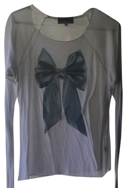 Preload https://item5.tradesy.com/images/wildfox-white-blue-tee-shirt-size-2-xs-4414624-0-0.jpg?width=400&height=650