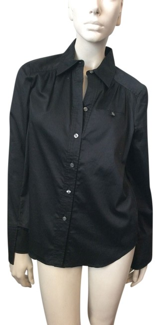 Preload https://item2.tradesy.com/images/black-button-down-top-size-2-xs-4414801-0-0.jpg?width=400&height=650