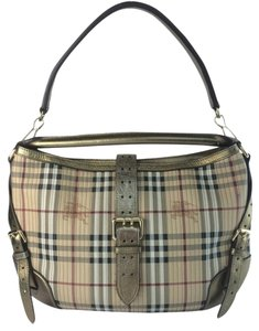 Burberry Haymarket Stitched Dunloe Shoulder Bag
