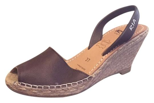 Ria Menorca Brown Wedges