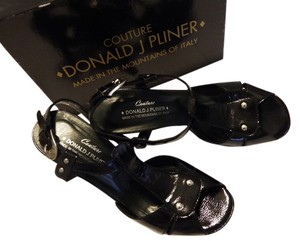 Donald J. Pliner Open Toe Stiletto Sandals Heels black Platforms