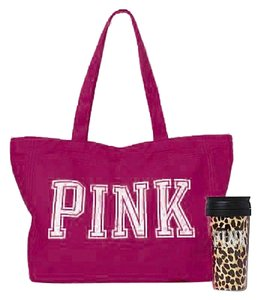 PINK Animal Print Tote in Berry