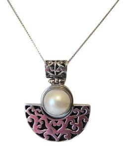 Other Artisan Crafted Scroll Design .925 Sterling Silver Pearl Pendant
