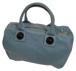 See by Chlo Satchel in Gray Blue