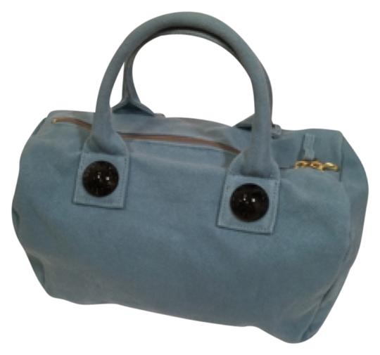 See by Chloé Satchel in Gray Blue