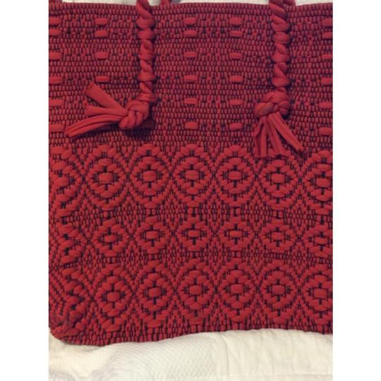Vintage Red Woven Tote Tote