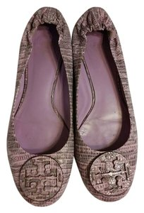 Tory Burch Ballet Leather Purple Flats