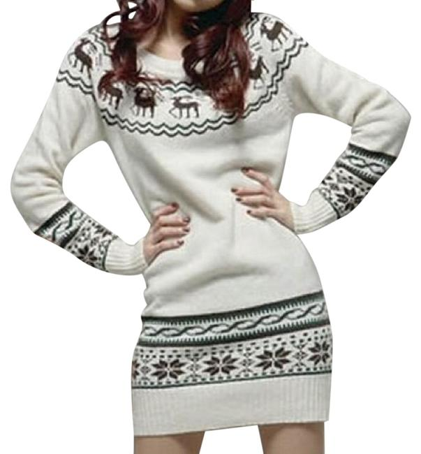 Preload https://item5.tradesy.com/images/white-cute-deer-sweaterpullover-size-os-one-size-4416214-0-2.jpg?width=400&height=650