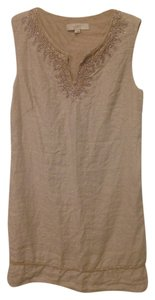Ann Taylor LOFT short dress Tan on Tradesy