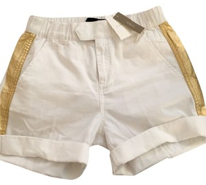 J.Crew J Crew J Crew Cuffed Shorts White and Gold