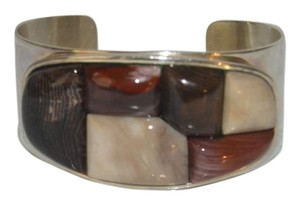 Mine Finds by Jay King Mine Find by Jay King DTR Stamped . 925 Sterling Silver Petrified Wood Cuff Bracelet fits 6