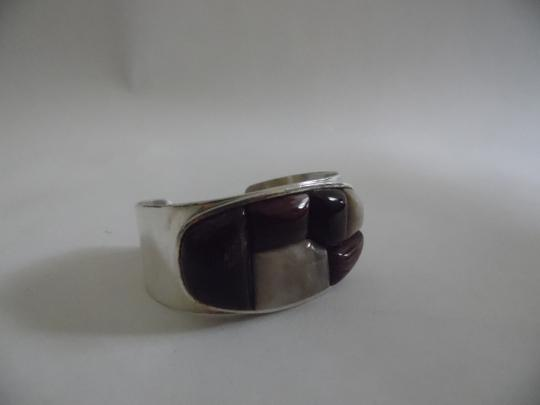"""Mine Finds by Jay King Mine Find by Jay King DTR Stamped . 925 Sterling Silver Petrified Wood Cuff Bracelet fits 6"""" to 7' wrist"""