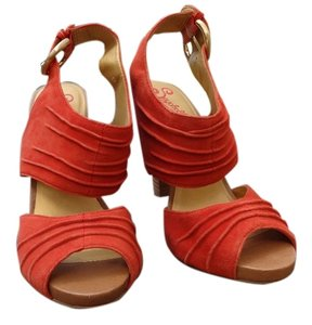 Seychelles Summer Fall Spring High Heel Burnt Orange Sandals