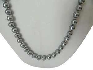 Pearlfection Pearlfection 23 Inch Hand Knotted Faux Akoya Pearl Necklace