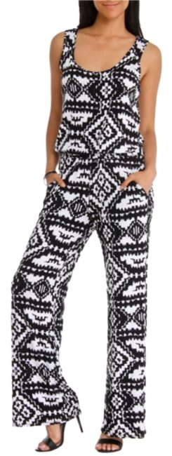 Preload https://item4.tradesy.com/images/seven7-black-and-white-tribal-print-romperjumpsuit-size-6-s-4417213-0-1.jpg?width=400&height=650