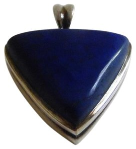 Other Big and Bold Sterling Silver Lapis Pendant with Wide Bail