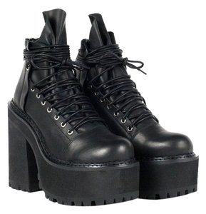 UNIF Leather Black Boots