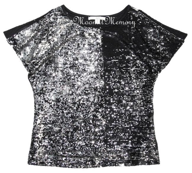 Preload https://item4.tradesy.com/images/boston-proper-silver-black-new-large-sequined-blouse-size-14-l-4417888-0-0.jpg?width=400&height=650