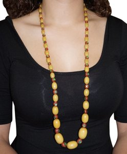 Other Huge Vintage Baltic Honey Amber Necklace Venetian Peacock Eye Foil Beads