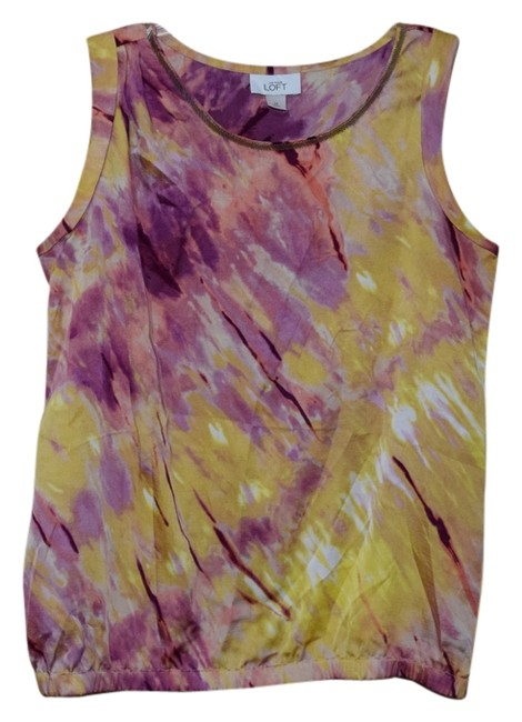 Preload https://item5.tradesy.com/images/ann-taylor-loft-top-pink-and-yellow-4418434-0-0.jpg?width=400&height=650