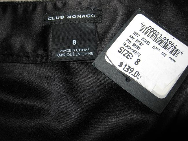 Club Monaco Wool Mini Skirt Black and White Checker