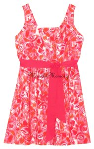 Garnet Hill short dress Pink, Red, Orange Roses Red New Without Tags on Tradesy