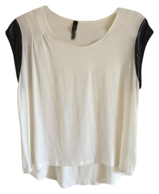 Preload https://item5.tradesy.com/images/nasty-gal-white-faux-leather-trim-tee-shirt-size-4-s-4418749-0-0.jpg?width=400&height=650