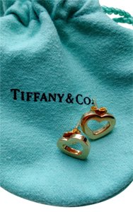 Tiffany & Co. Tiffany & Co. 18kt Gold Heart Earrings