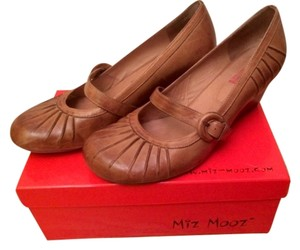 Miz Mooz Wedge Leather Cognac Wedges