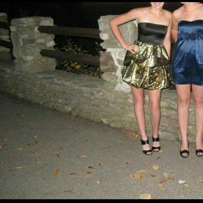 Charlotte Russe Sassy Shiny Strapless Only Worn Once Homecoming Dress