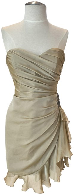 Item - Cashmere (Like Beige) Love By Style # C12 Short Cocktail Dress Size 8 (M)
