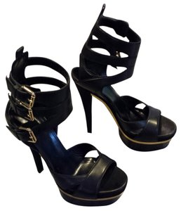 Gucci Black (Size 38.5) Triple Iman Platforms